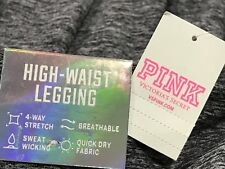victoriasecret pink ultimate high waist legging- grey black mesh - size (xs) NEW