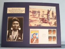 """Chief Joseph of Nez Perce - """"I will fight no more forever!"""" & First Day Cover"""