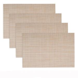 Toptie 4PCS Decorative Insulation Placemat, Washable Mesh Vinyl Woven Table Mats