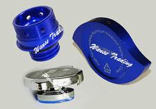 Engine Oil Filler Radiator Cap Billet Cover Blue Fit MITSUBISHI Ralliart EVO X