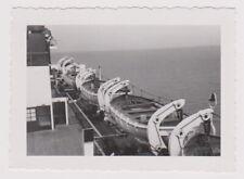 orig. Foto Dampfer BREMEN Lloyd Deck Rettungsboote USA FAHRT vintage photo 1935