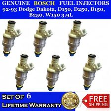 6x OEM Bosch Fuel Injectors for 92-93 Dodge Dakota,D150,D250,B150,B250,W150 3.9L