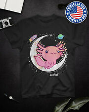 Space Axolotl Kawaii Shirt Pastel Goth T Shirt Black Cotton S-6XL