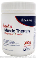 Faulding Remedies Muscle Therapy Magnesium Powder 300g ::50 Doses in 1 Tub::