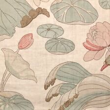 LEE JOFA Nympheus Twill Shell Jade Linen Floral Remnant New