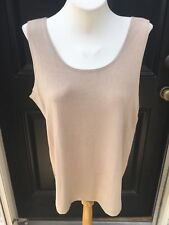 New Soldout Chico's Travelers Mojave Sand Contemporary Tank Top 3 = 16 18 XL NWT
