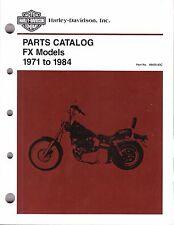 1971-1984 Harley FX Models Part Parts Catalog Manual NEW 99455-83C