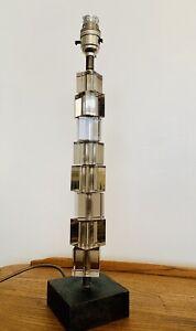 Porta Romana Perspex Cube Tower Table Lamp Light