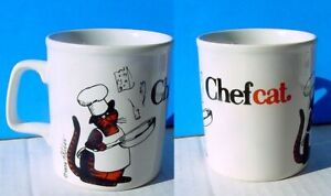 1979 Staffordshire Potteries Kiln Craft B Kliban CHEF CAT Mug Exc