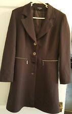 Mens SANDRO PARIS Dark Brown button coat Taille 42 VGC