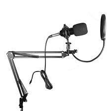 Adjustable Microphone Stand Complete Kit Uni-Directional Vocal Recording
