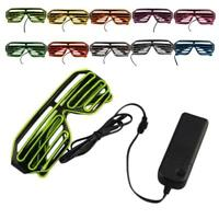 Glow LED Glasses Light Up Shades Flashing Rave Festival Party Glasses New Lot BG