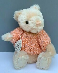 "GUND MOHAIR BEAR AMY LIMITED 1st EDITION PEACH COLOR 7.5"" TALL NUMBERED 170/800"