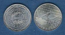 10 Euro Série des Régions 2010 Drapeaux Argent SUP - Bretagne