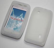 Silikon Case weiß für Sony Ericsson TXT Pro Schutzhülle Cover Hülle Schutzcase