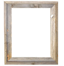 """16x20–2"""" Wide Signature Reclaimed Rustic Barn Wood Open Frame (No Glass Or Back)"""