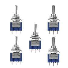 5Pcs AC ON/OFF/ON SPDT 3 Position Micro Mini Toggle Switch 6 Amp,AC 125V New US