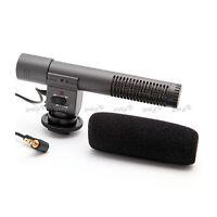 Microphone Micro Stéréo Directionnel pour Appareil Photo Reflex Caméscope DV