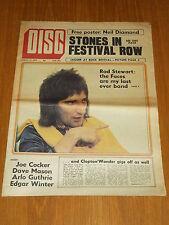 DISC AND MUSIC ECHO AUGUST 12 1972 FACES ERIC CLAPTON JOE COCKER STEVIE WONDER