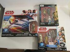 Star Wars figure sealed A Wing Resistance Kohls Exclusive 4 pack ship 9 figures!