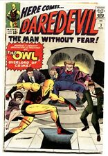 Daredevil #3 1964-Jack Kirby-Yellow costume-First Owl-vg