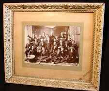 ANTIQUE PHOTO OF BRASS BAND c.1880 *MANY MUSICIANS & INSURUMENTS* NEW GLASGOW