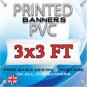 3 X 3 FT PVC BANNERS - OUTDOOR SIGN - ADVERTISING VINYL BANNER - BIRTHDAY PARTY