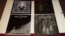 4 Black Metal LP Vinyl Record lot - The Stone + Bereft + High Priest - Mayhem