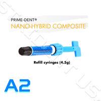 Prime Dent VLC Nano Hybrid Composite A2 Light Cure 4.5 gram syringe  001-601A2