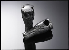 """Highway Hawk - RISER SET - 4"""" - M10 THREAD - FOR 1"""" AND 7/8"""" BARS - CARBON LOOK"""