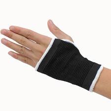 Black Elasticated Wrist Glove Palm Hand Support  Arthritis Brace Sleeve Brace