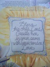 Bless This Child Nursery Baby Magazine Cross Stitch Pattern (B)