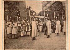 BUDAPEST FETE DIEU SAINT SACREMENT IMAGE 1928 OLD PRINT