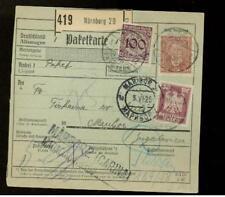 1925 Nuremburg Germany Parcel post receipt Yugoslavia