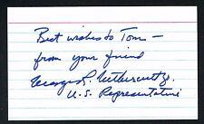 George Nethercutt signed autograph 3x5 card U.S. Representative for Washington