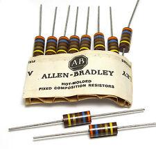 10x Allen Bradley resistenza, 360 ohm/2w per tubi AMPLIFICATORE, NOS