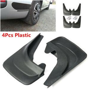 4Pcs Universal Plastic Car Truck Fender Mud Flaps Mudguards Splash Guards Black