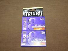 New listing Vintage Maxwell Xr Metal Professional 8Mm Camcorder Tape 2 Pack New Sealed