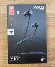 AKG Y100 Bluetooth Wireless Headphones Earbuds-Black-Brand New
