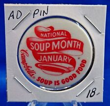 """National Soup Month January Campbell's Soup Is Good Ad Pin Pinback Button 1 1/2"""""""