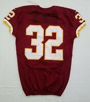 #32 No Name of Redskins NFL Locker Room Game Issued Lightly Worn Jersey