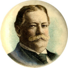 1908 William Howard Taft Chromolithograph Picture Button (4597)