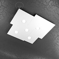 PLAFONIERA TOP LIGHT MODELLO PLATE 1129/PL5-BI LED GX53 45W LUCE NEUTRA INCLUSO
