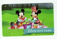 DISNEY Gift Card - Mickey Mouse & Minnie Picnic - No Value - I Combine Shipping