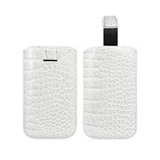 Housse Coque Etui Pochette Style Croco Couleur Blanc pour Sony Xperia SP