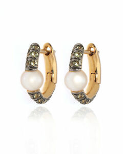 Mimi Milano Nagai Sirenette 18k Rose Gold And Pearl Earrings O365R2P