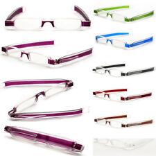 Fashion Mini Spectacle Eyeglass 360°Rotation Folding Reading Glasses 1.0 - 4.0