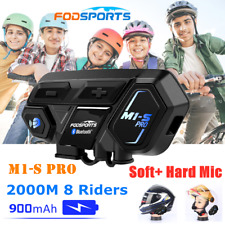 M1-S PRO Interphone 2000M Motorcycle Bluetooth Helmet Intercom Headset 8 Riders