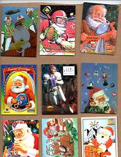 "1994 NFL Properties Christmas "" SANTA CLAUS "" complete 11 card set w/ Jim Kelly"