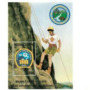 VINTAGE CLASSICS - Sierra Leone 1446 - Boy Scouts - Souvenir Sheet - MNH